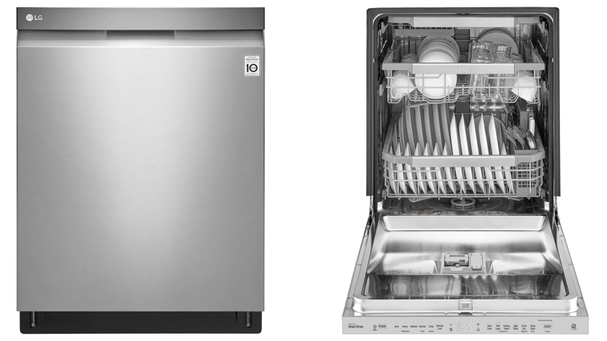 The LG LDP6797ST dishwasher