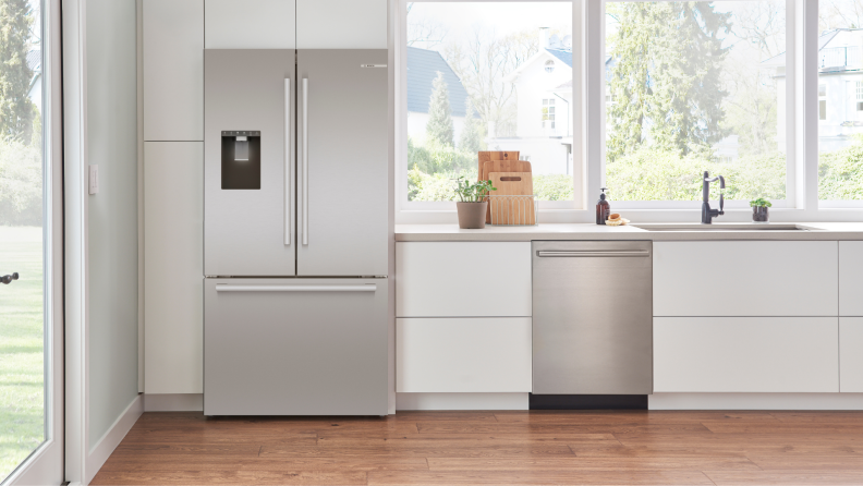 The Bosch B36CD50SNS in a large kitchen.