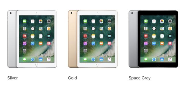 iPad 2017 Colors