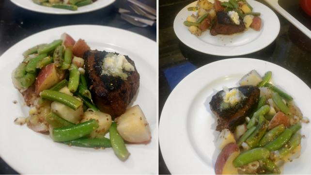Steak and potato salad