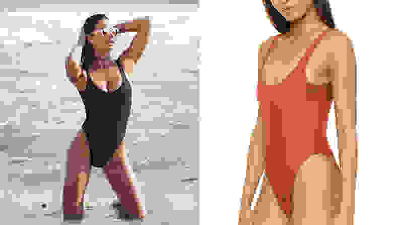 Dixperfect Women's Retro One Piece Swimwear