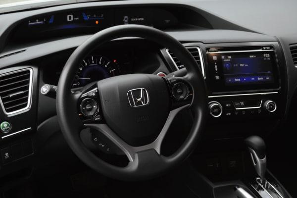The 2014 Honda Civic Coupe interior.