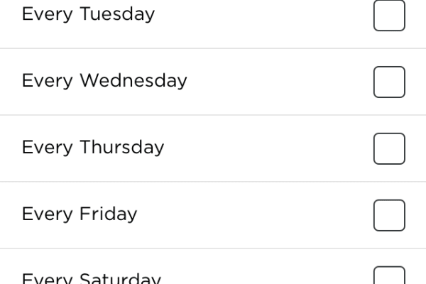 You can schedule the D3 to clean from the app.