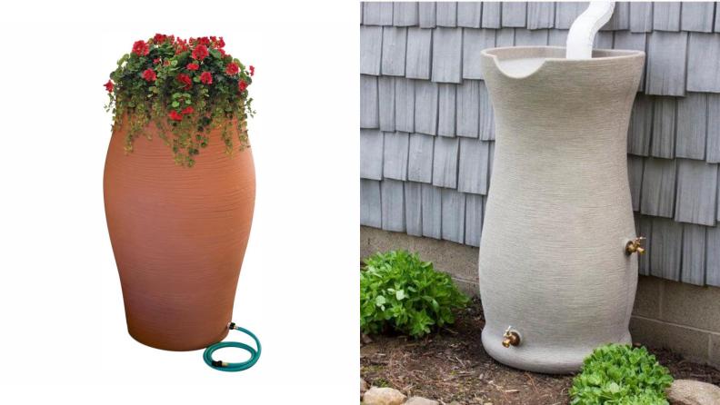 decorative water barrels
