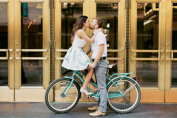 couple on bicycle