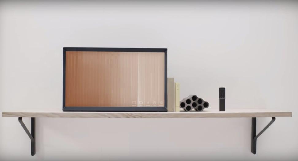 Serif TV on a shelf