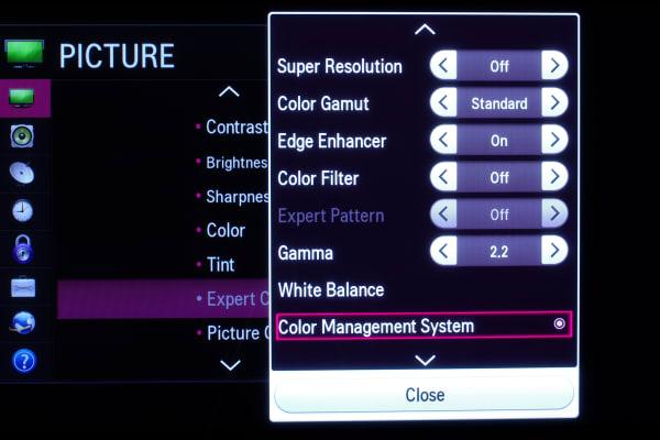 The LG 50PB6600 plasma TV has a pretty deep settings menu.