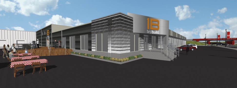 A rendering of the proposed FirstBuild complex.