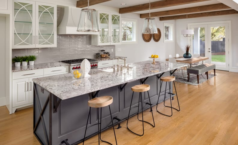 White-kitchen-gray-island