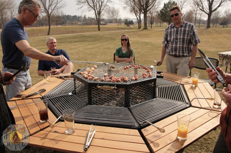 Your New Favorite Grill Triples As A Picnic Table And Fire Pit - Fire pit and grill table