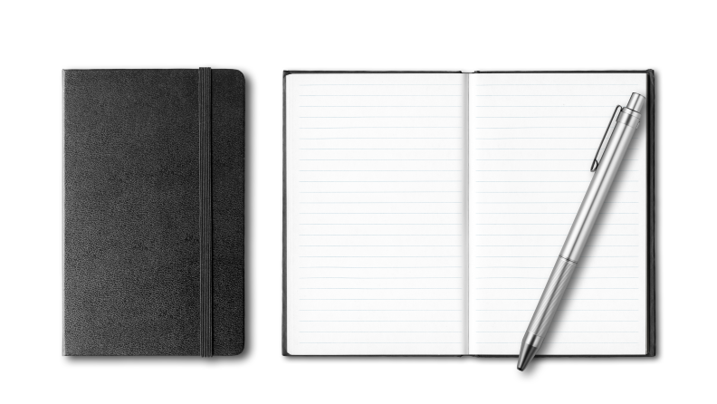 Notebooks and pens are must-haves.