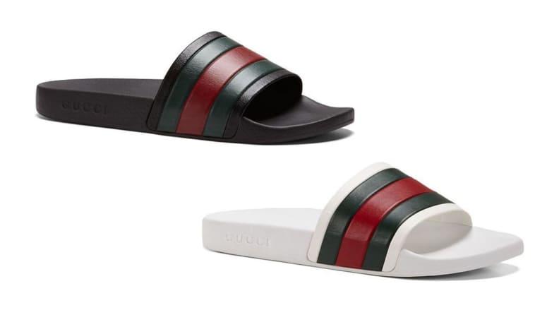 slide sandals for summer: Ugg, Gucci