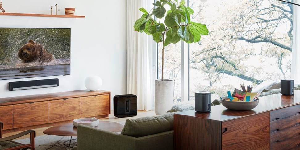 The Sonos Playbar and Play:1 speakers make for a great, no-nonsense wireless setup for your TV.