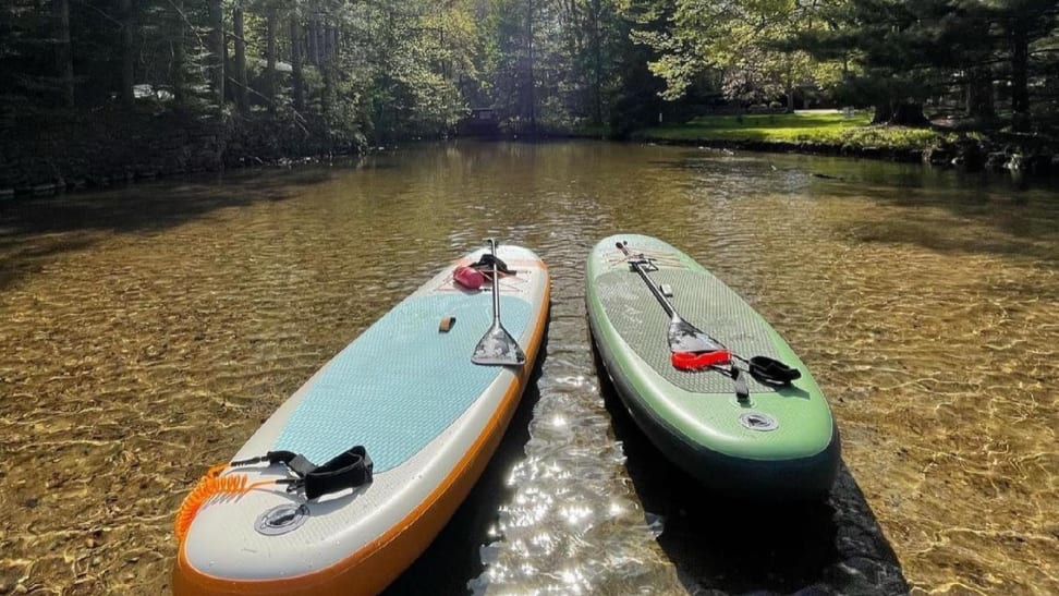 Two Paddleboards on open water
