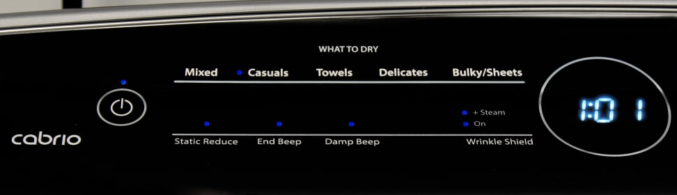 Whirlpool Cabrio WED8500DC Cycles