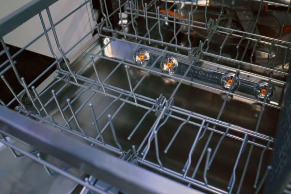 LG EasyRack Plus foldable tines on the bottom rack
