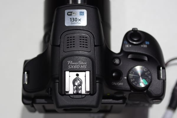 From the top, it's clear that the SX60 HS has been designed to look more like a Rebel DSLR than the SX50 it replaces.
