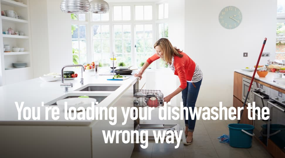 You're loading your dishwasher the wrong way