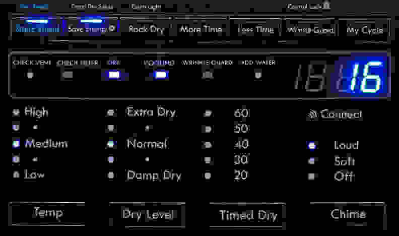 Kenmore Elite 81583 Controls