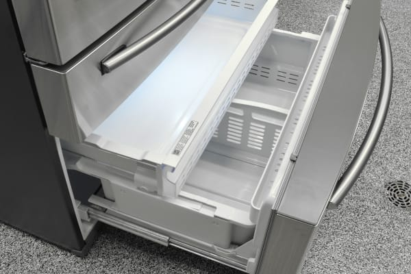 The Samsung RF30HBEDBSR's basic pullout freezer is one of the best aspects of this French door fridge.