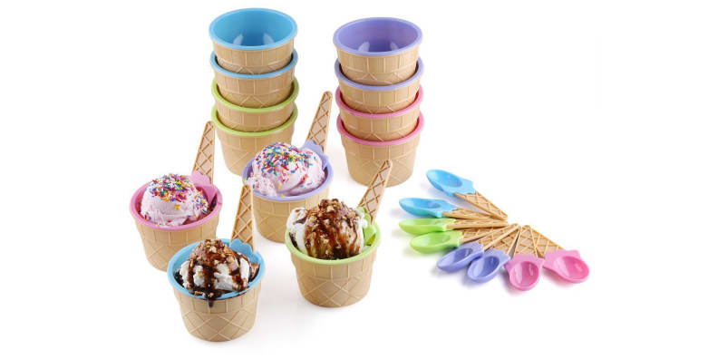 Waffle cone-inspired bowls