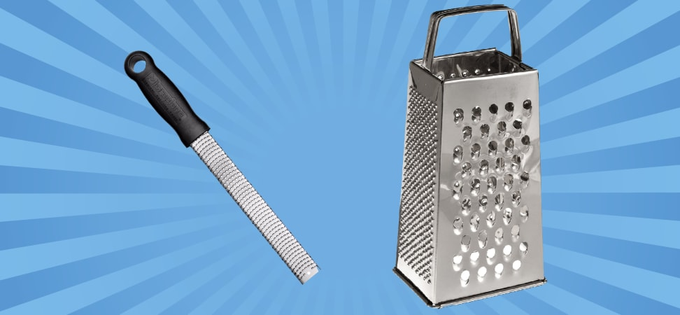 Microplane grater vs. box grater