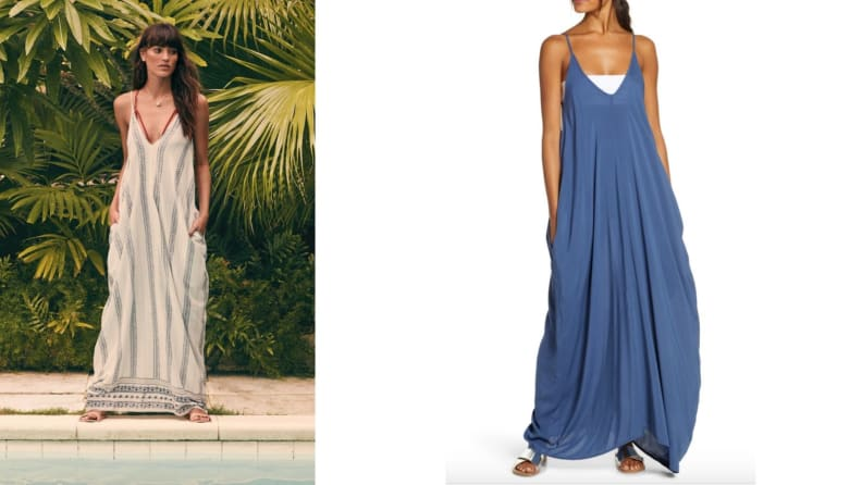 nordstrom billow maxi dress