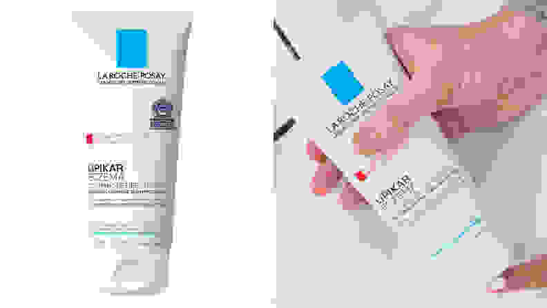 A image of the bottle of La Roche Posay eczema body moisturizer