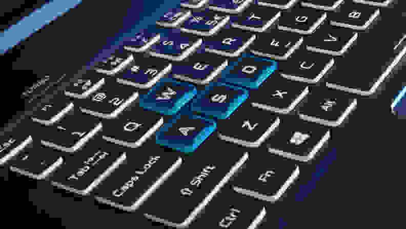 Closeup of WASD keys