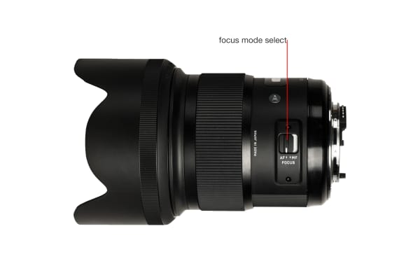 A side view of the 50mm f/1.4 DG HSM A.