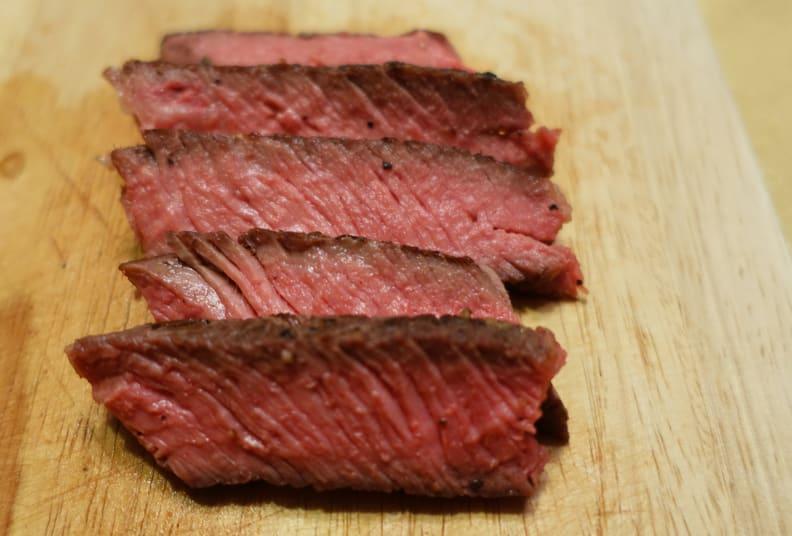 sliced sous vide steak