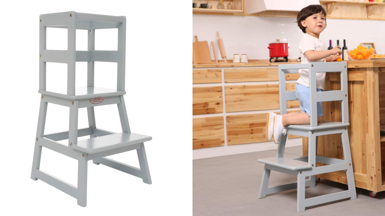 The Sdadi Adjustable Height Kitchen Step Stool is a budget-friendly option.