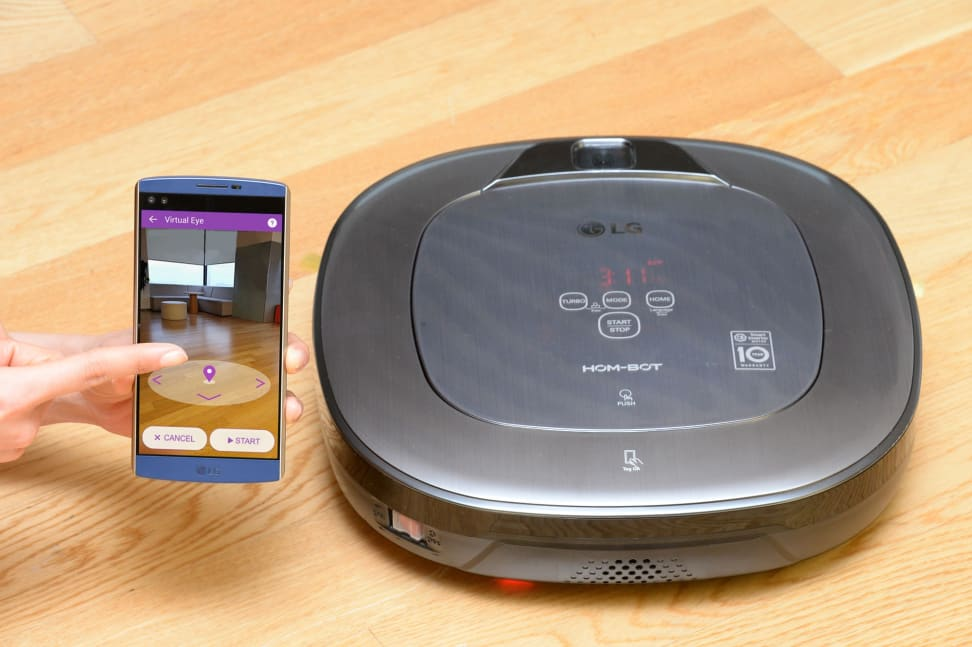 The LG HOM-BOT Turbo+ and its accompanying augmented reality smartphone app