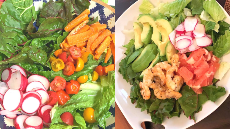 Salads made with Imperfect produce