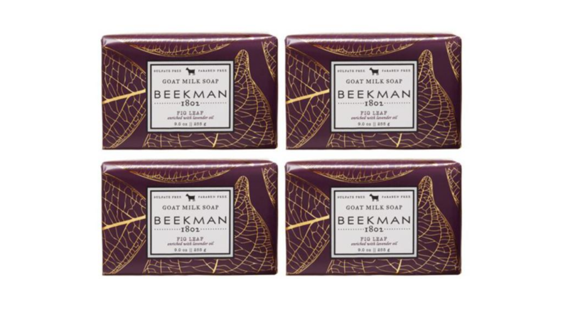 An image of Beekman 1802 soap bars in the scent Fig Leaf.