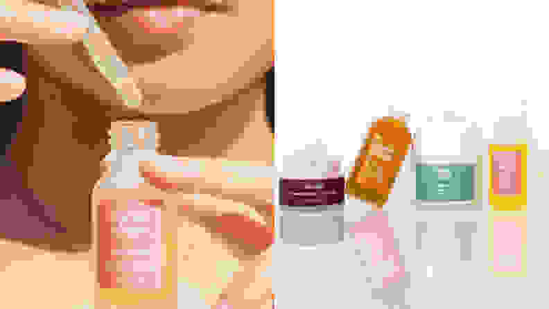 The Three Ships Beauty Dew Drops and four other products from the line.