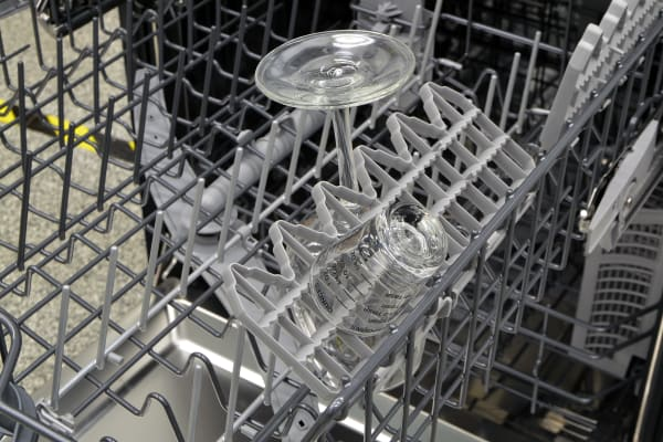 Fold-down shelf on the Thermador DWHD440MFM