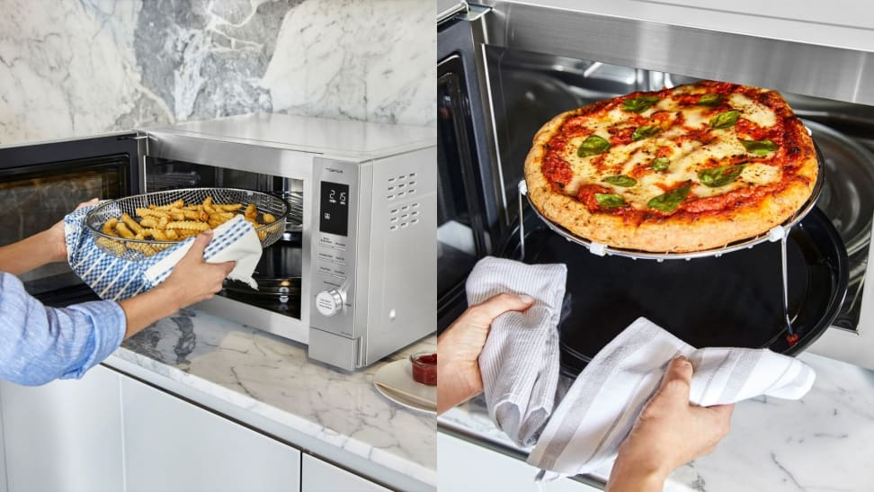 Panasonic's Home Chef countertop multi-oven can air fry, microwave, broil, and convection bake.