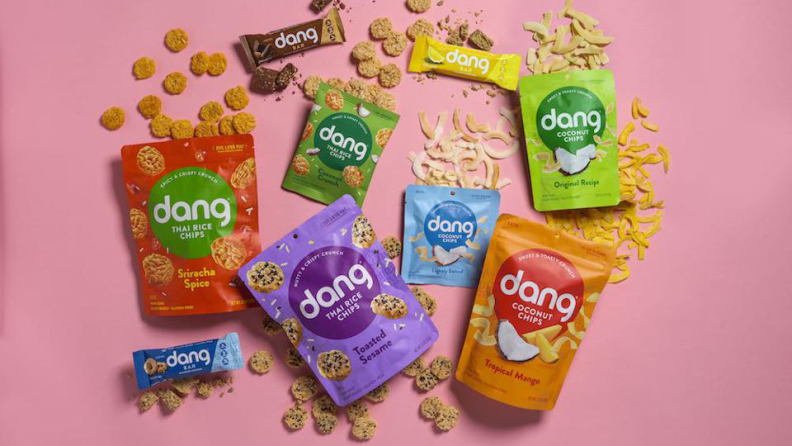 Dang Foods mainly produce flavor rice chips and snack bars with flavors of Thailand.