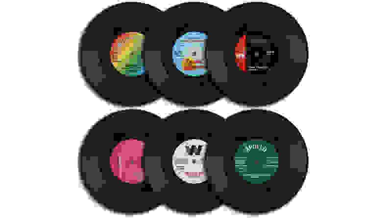 homEdge Vinyl Record Coasters
