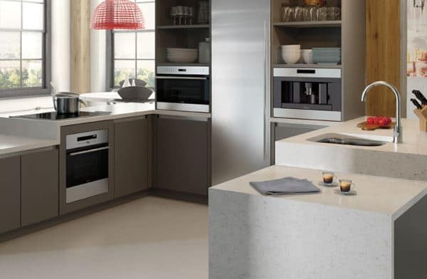 Wolf and Sub-Zero Introduce a Compact Kitchen Suite - Reviewed.com Refrigertor With Against Wall Condo Kitchen Design Ideas on
