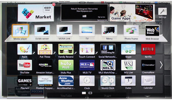 While Viera Connect doesn't have the most apps, it has most of the quality streaming ones.