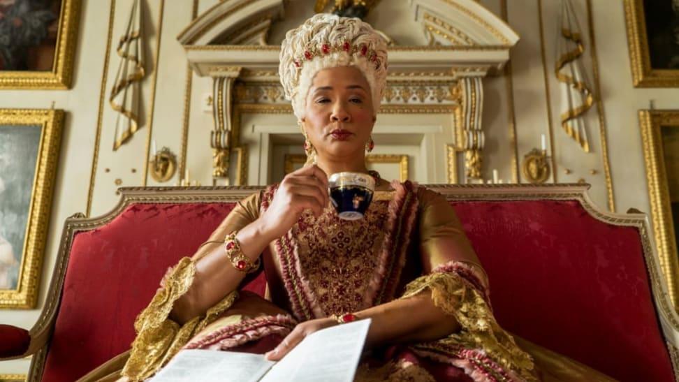 "Actress Golda Rosheuvel performs as Queen Charlotte in the Netflix original series ""Bridgerton."""