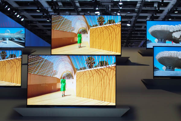 The Panasonic AX900 looked stunning on Panasonic's show floor, but demo footage usually does.