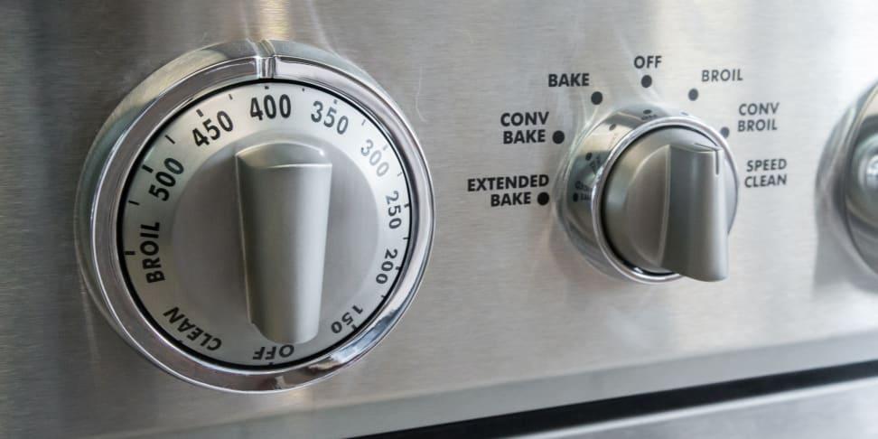 Oven temperature control knob