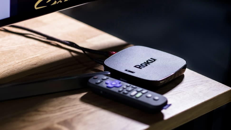 A dedicated Roku streaming box in use