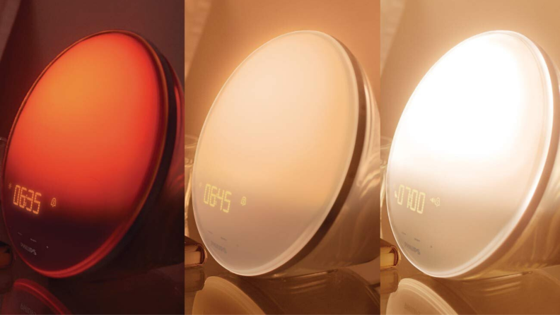 Philips Wake-Up Light colors