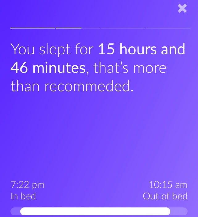 Eight app time slept