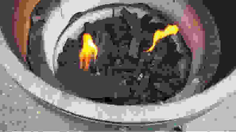 Coals in a Big Green Egg
