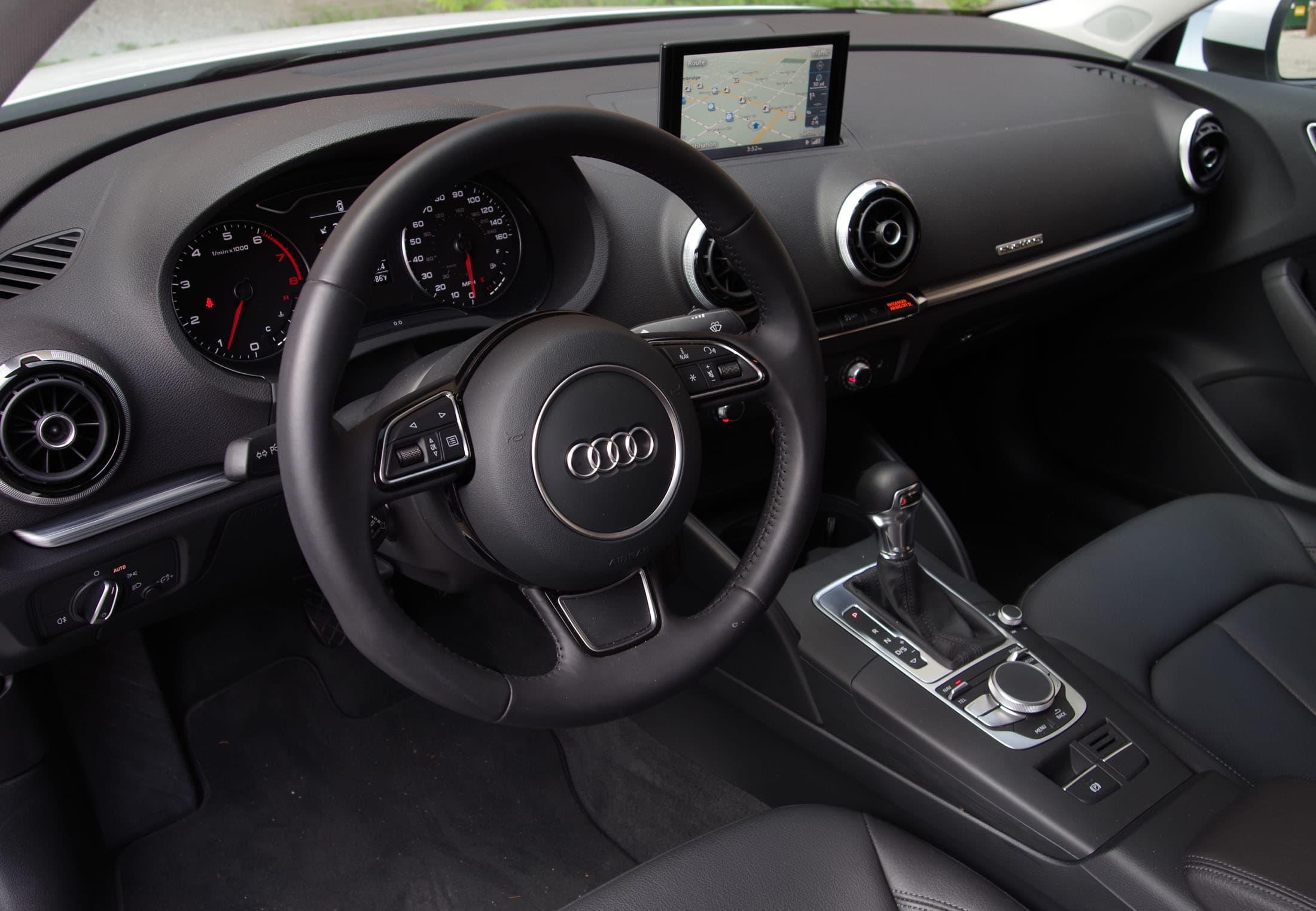 Audi a3 driver's view interior